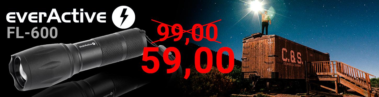 Promocja - latarka everActive FL-600