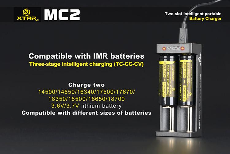 Ładowarka akumulatorów Li-ion - obsługiwane akumulatory