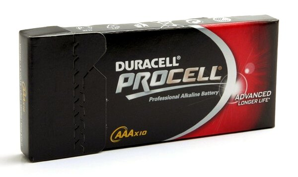 10 x bateria alkaliczna Duracell Procell LR03 AAA