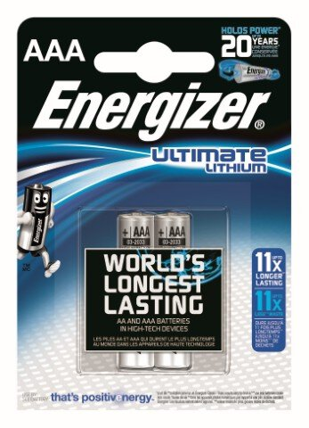2 x bateria foto litowa Energizer L92 Ultimate Lithium R03 AAA