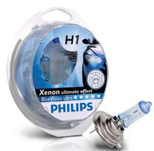 2x Philips H1 Blue Vision Ultra  Xenon Effect