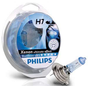 2x Philips H7 Blue Vision Ultra  Xenon Effect