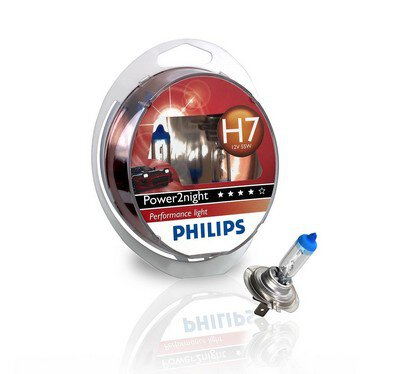 2x Philips H7 Power2Night GT150