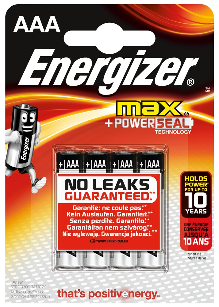 4 x bateria alkaliczna Energizer MAX LR03/AAA (blister)