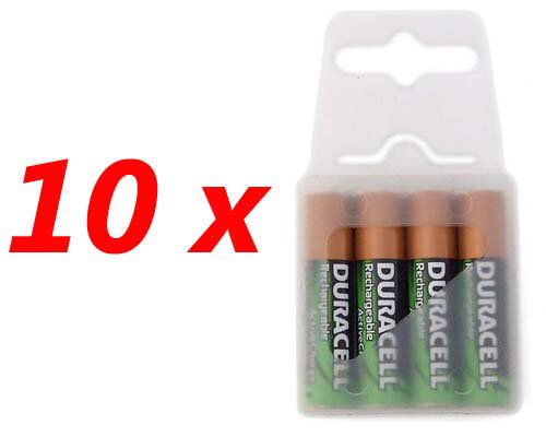 40 x DURACELL ActiveCharge R03/AAA Ni-MH 800mAh -- (box)