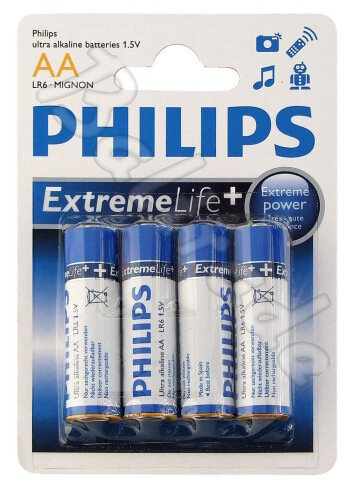 bateria alkaliczna Philips ExtremeLife LR6 AA (blister)