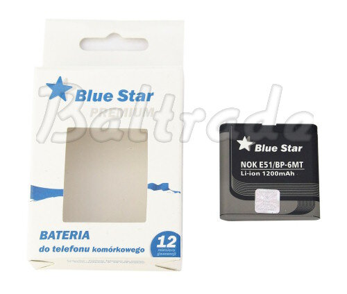 Bateria Bluestar do Nokia E51/N81 Li-ion 1200mAh