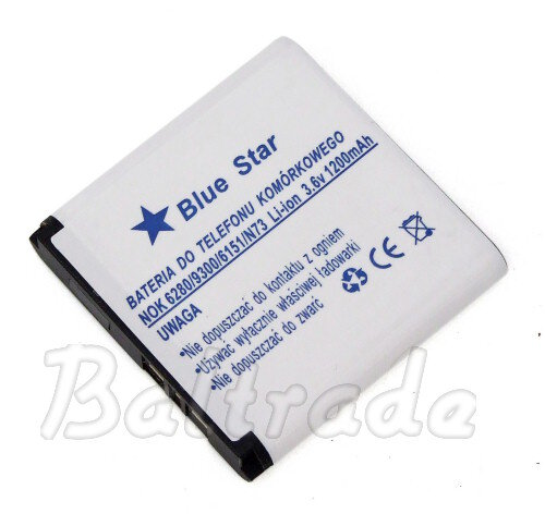 Bateria Bluestar do Nokia N73 Li-ion 1200mAh