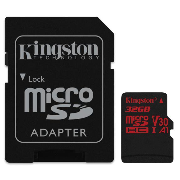 Karta pamięci Kingston Canvas React microSD (microSDHC) 32GB 100MB/s UHS-I U3 V30 A1 + adapter