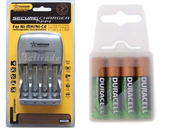 Pentagram 444 + 4 x R03/AAA Duracell ActiveCharge 800 mAh (box)