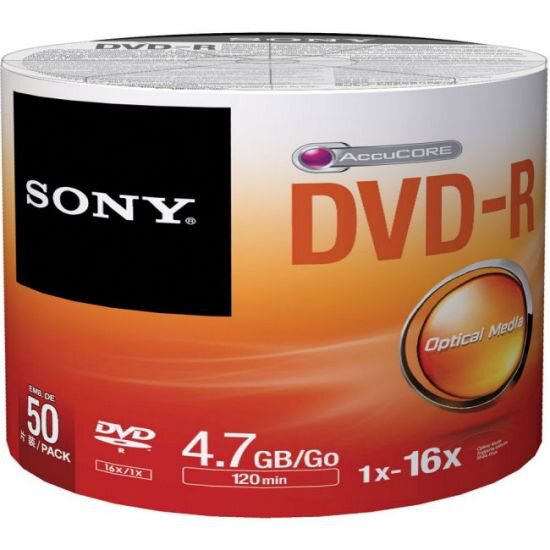 Płyty DVD-R 4,7GB 16X SONY SP50