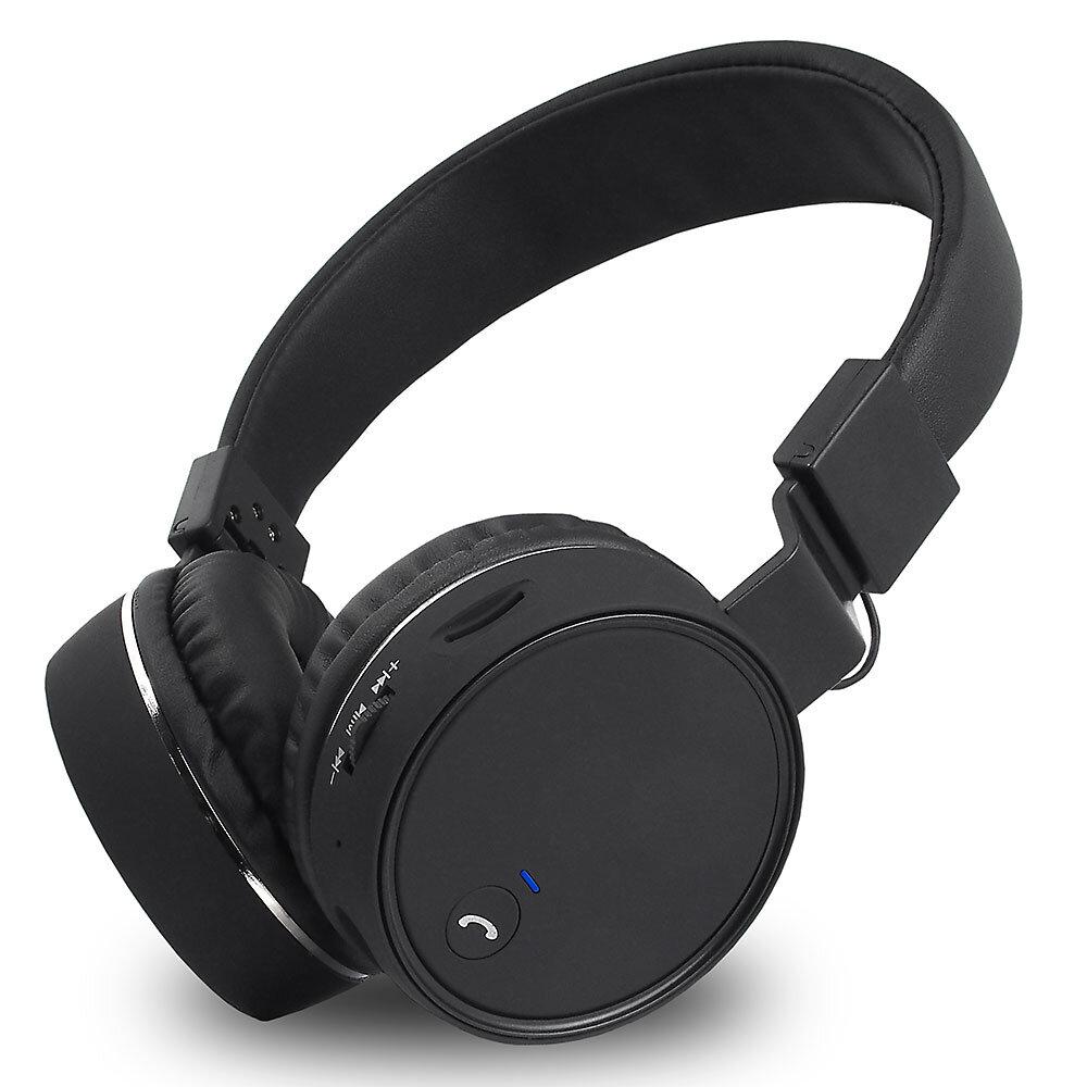 Składane słuchawki nauszne Bluetooth Voice Kraft VK-450 Hi-Fi czarne