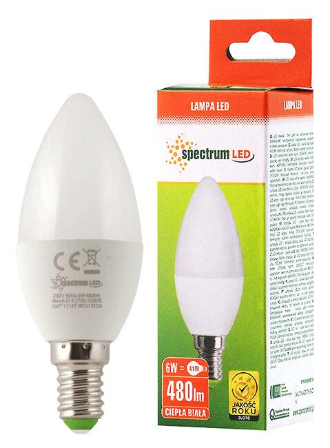 Ogromny Żarówka LED 6W E14 świeczka Spectrum WOJ13026 - sklep internetowy GM89