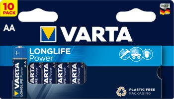 10 x Varta Longlife Power LR6/AA 4906 (High Energy)