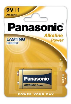 12 x Panasonic Alkaline Power 6LR61/9V (blister)