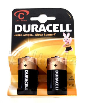 2 x bateria alkaliczna Duracell LR14 C (blister)