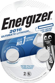 2 x bateria litowa mini Energizer Ultimate Lithium CR2016