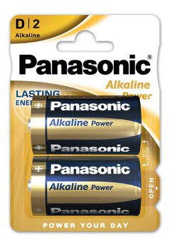 2 x Panasonic Alkaline Power LR20 / D (blister)
