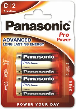 24 x Panasonic Alkaline PRO Power LR14/C (blister)