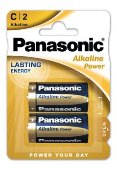 24 x Panasonic Alkaline Power LR14/C (blister)