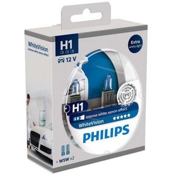 2x Philips H1 WhiteVision + 2x W5W