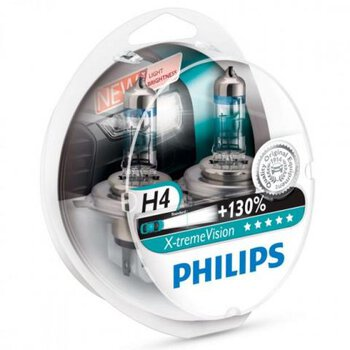 2x Philips H4 X-Treme Vision +130%