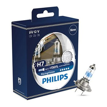 2x Philips H7 Racing Vision +150%