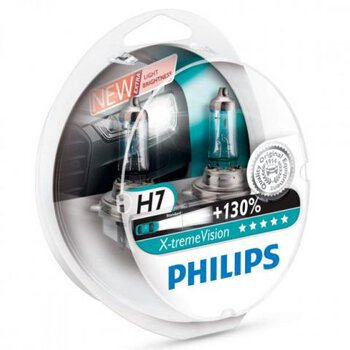 2x Philips H7 X-Treme Vision +130%