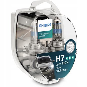 2x Philips H7 X-Treme Vision PRO +150%