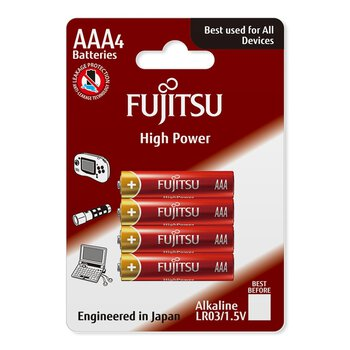 4 x bateria alkaliczna Fujitsu High Power LR03 AAA blister
