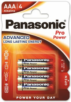 4 x Panasonic Alkaline PRO Power LR03/AAA (blister)