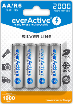 4 x akumulatorki everActive R6/AA Ni-MH 2000 mAh ready to use