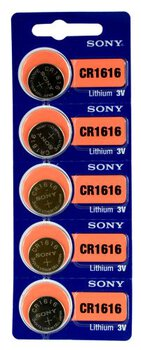 5 x bateria litowa mini Sony CR1616