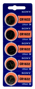 5 x bateria litowa mini Sony CR1632