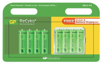 8 x akumulatorki R6/AA GP ReCyko+ 2600 Series 2600mAh + box