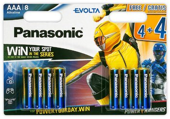 96 x Panasonic Evolta LR03/AAA (blister)  Power Rangers