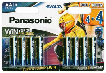 96 x Panasonic Evolta LR6/AA (blister) Power Rangers