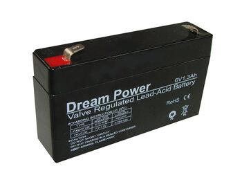 akumulator żelowy AGM Dream Power 6V 1,3Ah