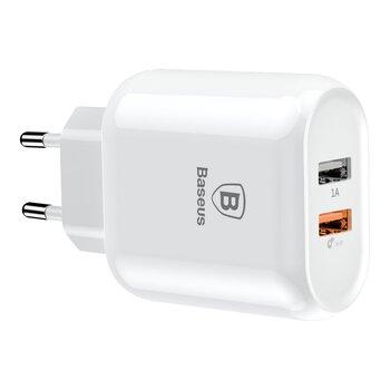Baseus Bojure BS EUQC01 CCALL AG02 QC3.0 23W Quick Charge 3.0 szybka ładowarka sieciowa z 2 gniazdami USB