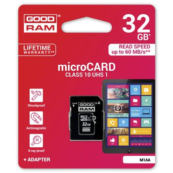GOODRAM microSDHC 32GB class 10 UHS-I + adapter SD