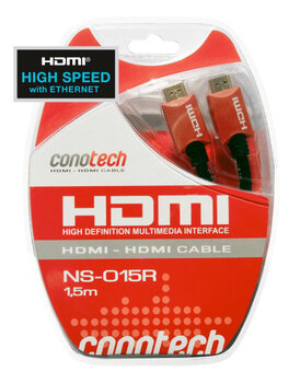 Kabel HDMI (v1.4) Conotech 1.5m Gold NS-015R