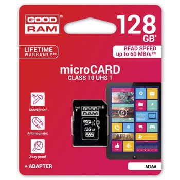 karta pamięci GOODRAM microSDXC 128GB class 10 UHS-I + adapter SD
