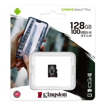 Karta pamięci Kingston Canvas Select Plus microSD (microSDXC) 128GB class 10 V10 UHS-I U1 A1 - 100MB/s
