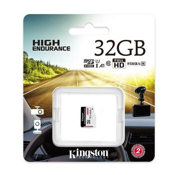 karta pamięci Kingston High Endurance microSDHC 32GB 95MB/s dedykowana do monitoringu