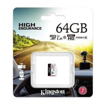 karta pamięci Kingston High Endurance microSDXC 64GB 95MB/s dedykowana do monitoringu