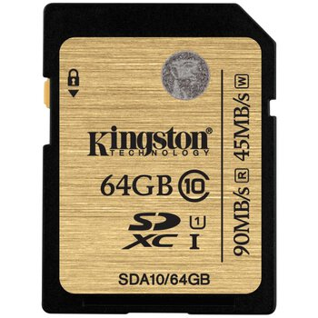 Karta pamięci Kingston SDXC 64GB class 10 UHS-I - 45/90MB/s