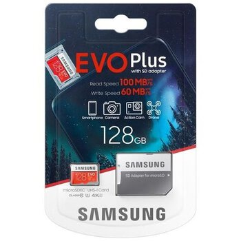 Karta pamięci Samsung EVO PLUS microSDXC 128GB UHS-I U3 class 10 + adapter do SD