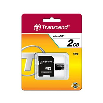Karta pamięci Transcend microSD 2GB + adapter do SD