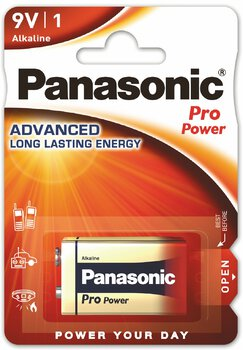 12x Panasonic Alkaline PRO Power 6LR61/9V (blister)