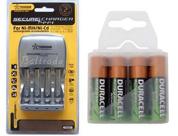 Pentagram 444 + 4 x R6/AA Duracell ActiveCharge 2000 mAh (box)